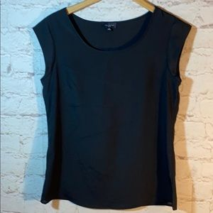*THE LIMITED SHEER ANGLED SHORT SLEEVED BLOUSE